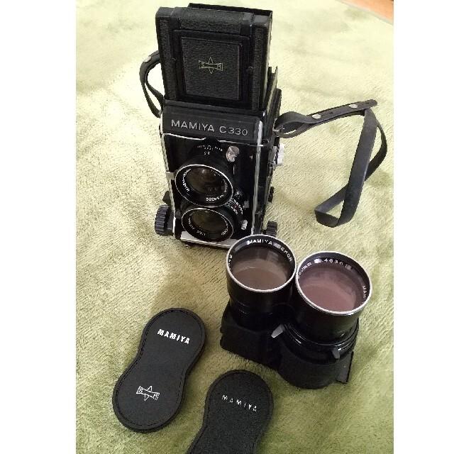 USTMamiya(マミヤ)のMAMIYA C330 プロフェッショナル 二眼レフカメラ スマホ/家電/カメラのカメラ(フィルムカメラ)の商品写真