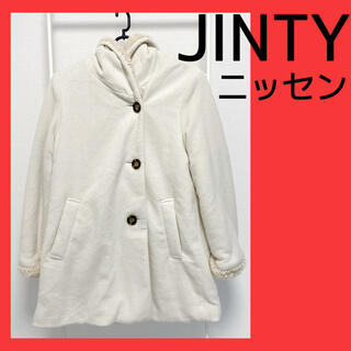 ニッセン(ニッセン)のJINTY ジンティ ニッセン コート モコモコアウター ホワイト 韓国 服(毛皮/ファーコート)