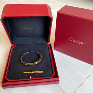 Cartier - カルティエ ラブブレス ラブ ブレスレット 16 16号 イエローゴールド YG