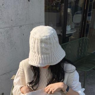 フリークスストア(FREAK'S STORE)の♡限定価格♡ニット バケットハット ivory(ハット)