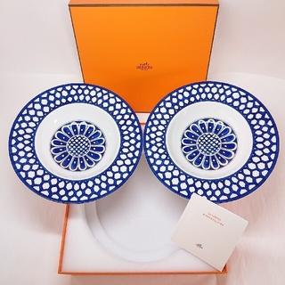 エルメス(Hermes)のエルメス ブルーダイユール スープ皿  中深皿( 21㎝ ) × 2枚セット!(食器)