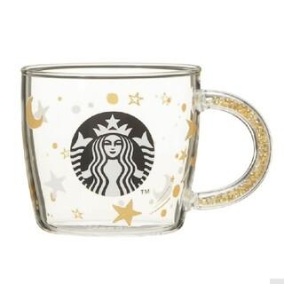 Starbucks Coffee - スタバ holiday 星 ビーズ  耐熱グラス