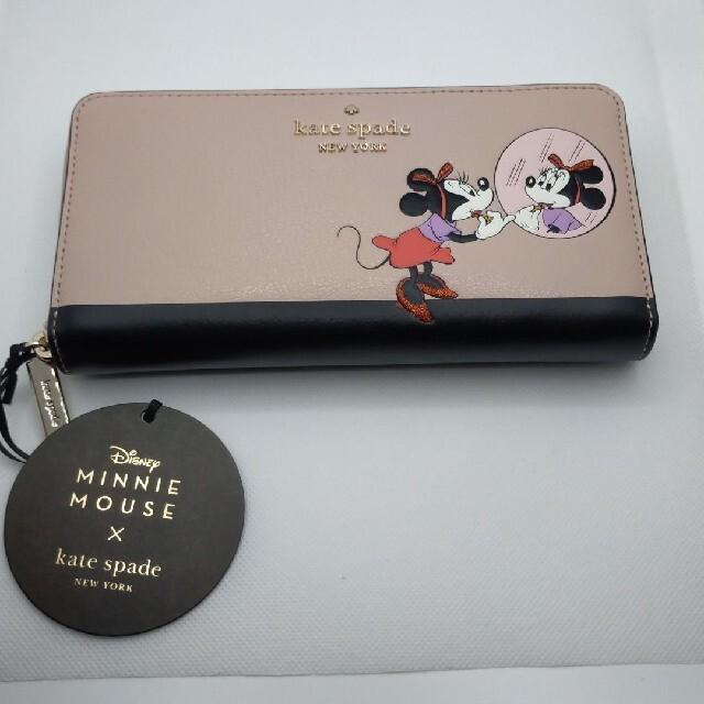 kate spade new york(ケイトスペードニューヨーク)の【新品未使用】ケイトスペード ミニーマウス ラウンドジップウォレット 白 レディースのファッション小物(財布)の商品写真