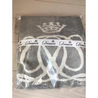 Drawer - ドゥロワー ノベルティ ブランケット グレー 毛布 クリスマスプレゼント
