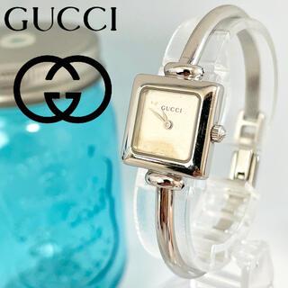 Gucci - 206 グッチ時計 レディース腕時計 新品電池 ハングル 1900L スクエア