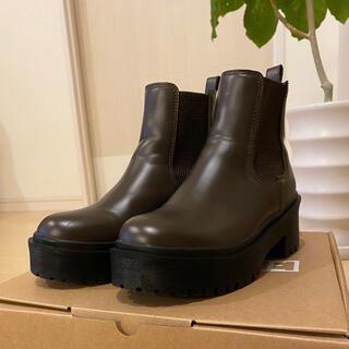 イーボル(EVOL)のEVOL サイドゴアブーツ ブラウン Sサイズ(ブーツ)