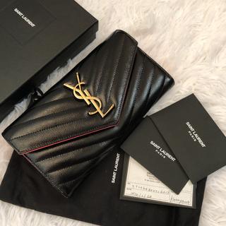 Saint Laurent - 美品 saintlaurent イヴサンローラン 2つ折り 長財布