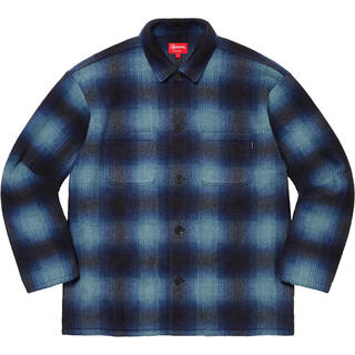 Supreme - supreme Shadow Plaid Fleece Shirt S