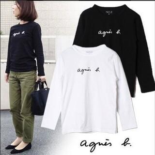 agnes b. - アニエスベー Agnes b 長袖Tシャツ レディース Lサイズ ホワイト ロン