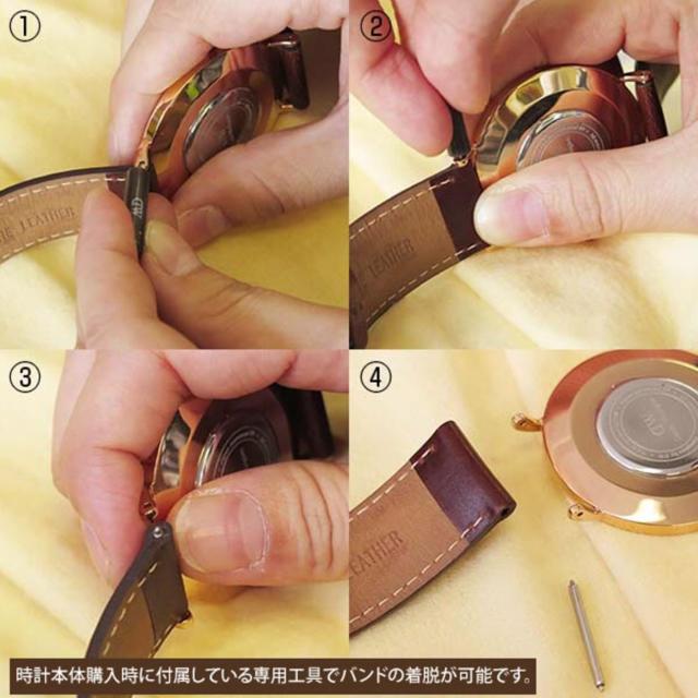 Daniel Wellington(ダニエルウェリントン)の【40㎜】ダニエルウェリントン腕時計 替えレザーベルト〈ダークブラウン〉新品 メンズの時計(腕時計(アナログ))の商品写真