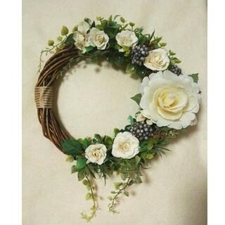 薔薇と紫陽花 ナチュラル リース クリスマス