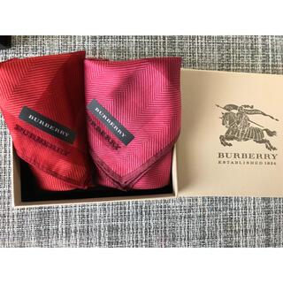 バーバリー(BURBERRY)のおちゃま様専用 バーバリー レディース  ハンカチ 赤 ピンク 新品未使用(ハンカチ)
