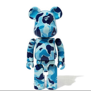 アベイシングエイプ(A BATHING APE)のBAPE X MEDICOM TOY ABC CAMO BE@RBRICK 青 (その他)