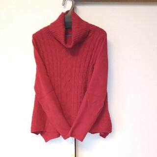 アーバンリサーチ(URBAN RESEARCH)の美品 朱色のニットセーター(ニット/セーター)