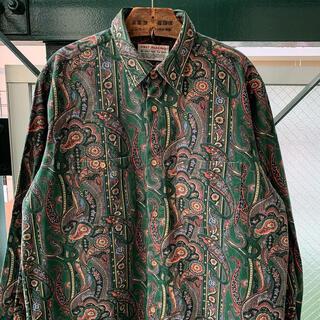 ART VINTAGE - 90s ペイズリー柄 総柄シャツ アートシャツ ネルシャツ デザインシャツ 古着