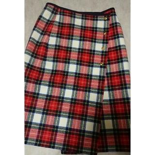 Drawer - ドゥロワー チェック柄 巻きスカート 36 極美品