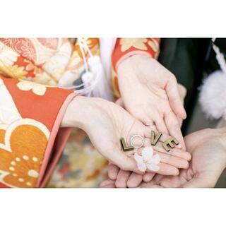 Wedding 前撮り 撮影アイテム LOVE イニシャルパーツ*。