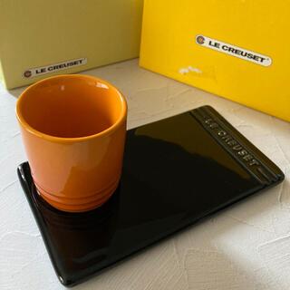 LE CREUSET - ル・クルーゼ 耐熱テーブルウェア コップ プレートandカップ 2点セット