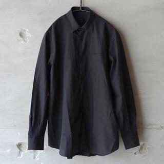 COMOLI - 19ss comoli コモリシャツ ブラック サイズ2