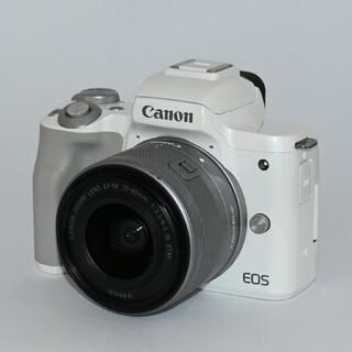 Canon - 【Canon】Wi-Fi機能搭載!自撮りもOK!EOS Kiss Mレンズキット