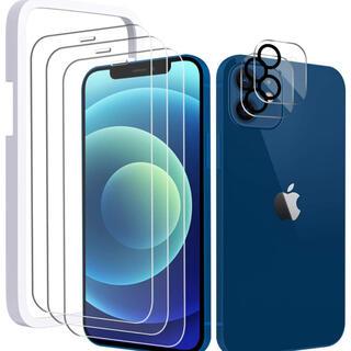 iPhone12mini ガラスフィルム (3枚+カメラフィルム付)(保護フィルム)