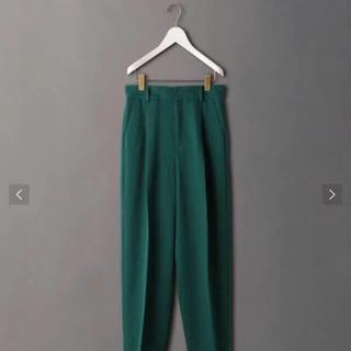 BEAUTY&YOUTH UNITED ARROWS - 美品 ROKU 6 ウールタックパンツ 34サイズ ケリー