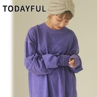 TODAYFUL - TODAYFUL Flatseam longT-shirt パープル