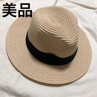ジーナシス(JEANASIS)のレディース ハット 帽子 麦わら ストローハット 中折れハット 美品(麦わら帽子/ストローハット)
