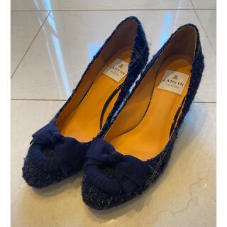 LANVIN en Bleu - 【ランバンオンブルー】美品☆ツイードパンプス♡23.5cm