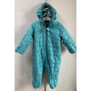 UNIQLO - ベビー80 UNIQLO ジャンプスーツ 防寒 冬 カバーオール ブルー 水玉