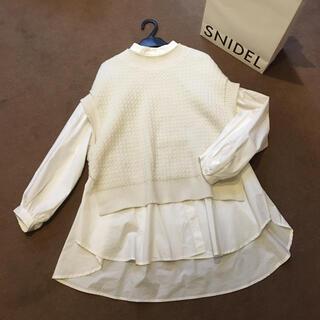 snidel - 2020AW SNIDELシャツセットオーバーニットベスト 田中みな実着用