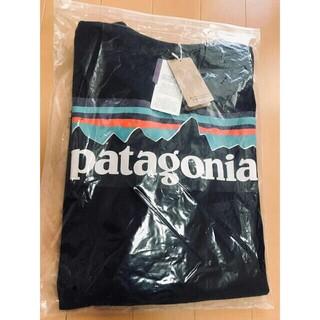 patagonia - 新品 patagonia パタゴニア 長袖ロンT P-6LOGO ブラックXL