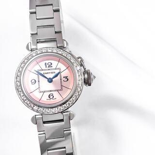 Cartier - 【保証書付】カルティエ ミスパシャ ピンク ダイヤ レディース 時計