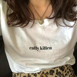 ロキエ(Lochie)のcattykitten Tシャツ 白(Tシャツ/カットソー(半袖/袖なし))