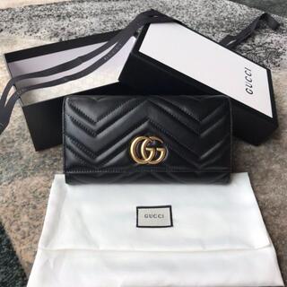 Gucci - グッチ GG マーモント コンチネンタルウォレット 長財布