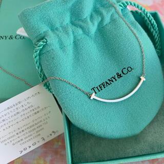 Tiffany & Co. - TIFFANYホワイトゴールドk18⭐︎Tスマイルペンダント
