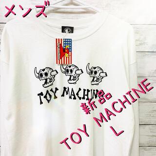 トイマシーン(Toy Machine)のメンズ 長袖 ロングTシャツ TOY MACHINE トイマシーン  ホワイトL(Tシャツ/カットソー(七分/長袖))
