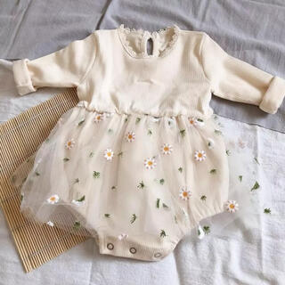 petit main - 新品未使用 チュールロンパース 90cm  レース ベビー 韓国子供服