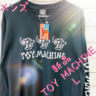 トイマシーン(Toy Machine)のメンズ 長袖 ロングTシャツ TOY MACHINE トイマシーン  ブラックL(Tシャツ/カットソー(七分/長袖))