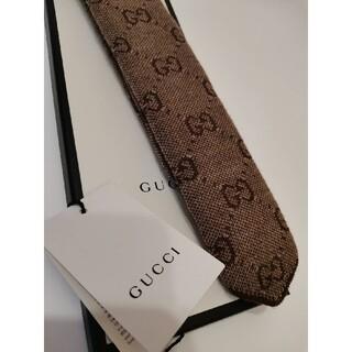 Gucci - GUCCI GGウール ネクタイ ニットタイ GGパターン