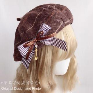 ゴスロリ 原宿 森ガール ボンボンリボンベレー帽(衣装一式)