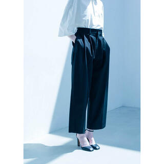 SUNSEA - stein 20ss WIDE STRAIGHT TROUSERS(BLACK)