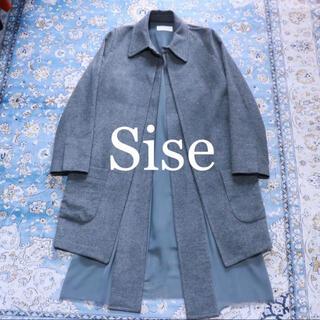 シセ(Sise)のSise 異素材レイヤード カシミヤ混ウールステンカラーコート(ステンカラーコート)