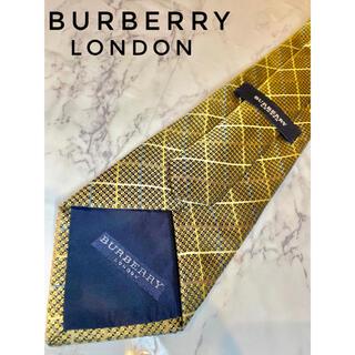 バーバリー(BURBERRY)の【美品】Burberry London 金 メンズ ネクタイ(ネクタイ)