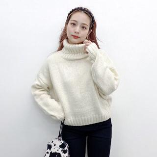 Kastane - jumelle high neck knit white