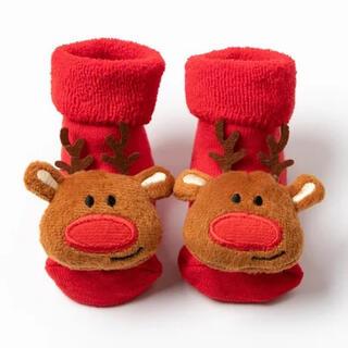 ベビーソックス 赤ちゃん靴下 クリスマスソックス トナカイ