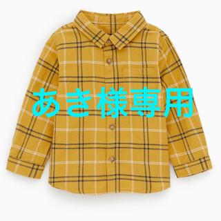ザラキッズ(ZARA KIDS)のZARA BABY チェックシャツ ネルシャツ  104(Tシャツ/カットソー)