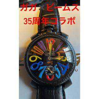 ガガミラノ(GaGa MILANO)の350本限定❗ガガミラノ×BEAMS ブラックカーボン(腕時計(アナログ))