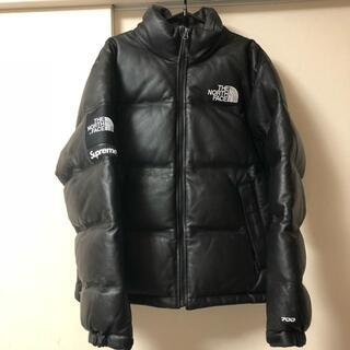 Supreme - supreme north face leather nuptse jacket