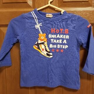 ホットビスケッツ(HOT BISCUITS)のホットビスケッツ ロンT スニーカー 100カットソー 青 ブルー(Tシャツ/カットソー)